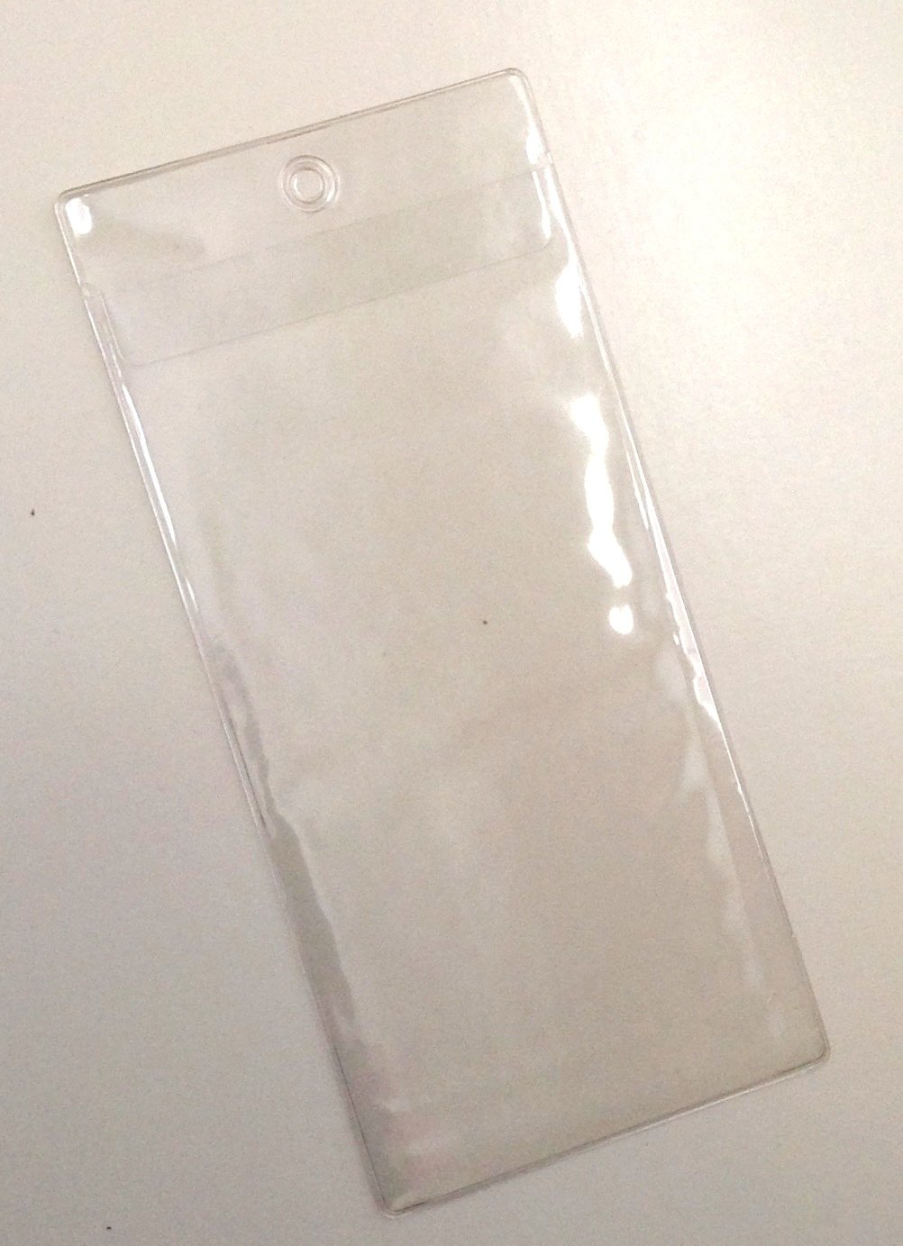 3 Lanyard Holes 4x8 Tix 5 Extra Large 4 X 8 Clear Plastic Ticket Holder Sleeves
