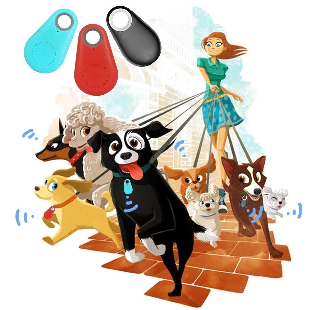 Bluetooth Tracker, Smart Finder Bluetooth Locator Pet Tracker Alarm GPS Tracker Key Wallet Car Kids Pet Dog Cat Bag Phone Locator Selfies Shutter Wireless Anti Lost Alarm Sensor-Random Color (3 PCS)