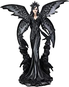 Ebros Large Gothic Raven Fey Fairy Queen Maleficent with Crown Statue 24