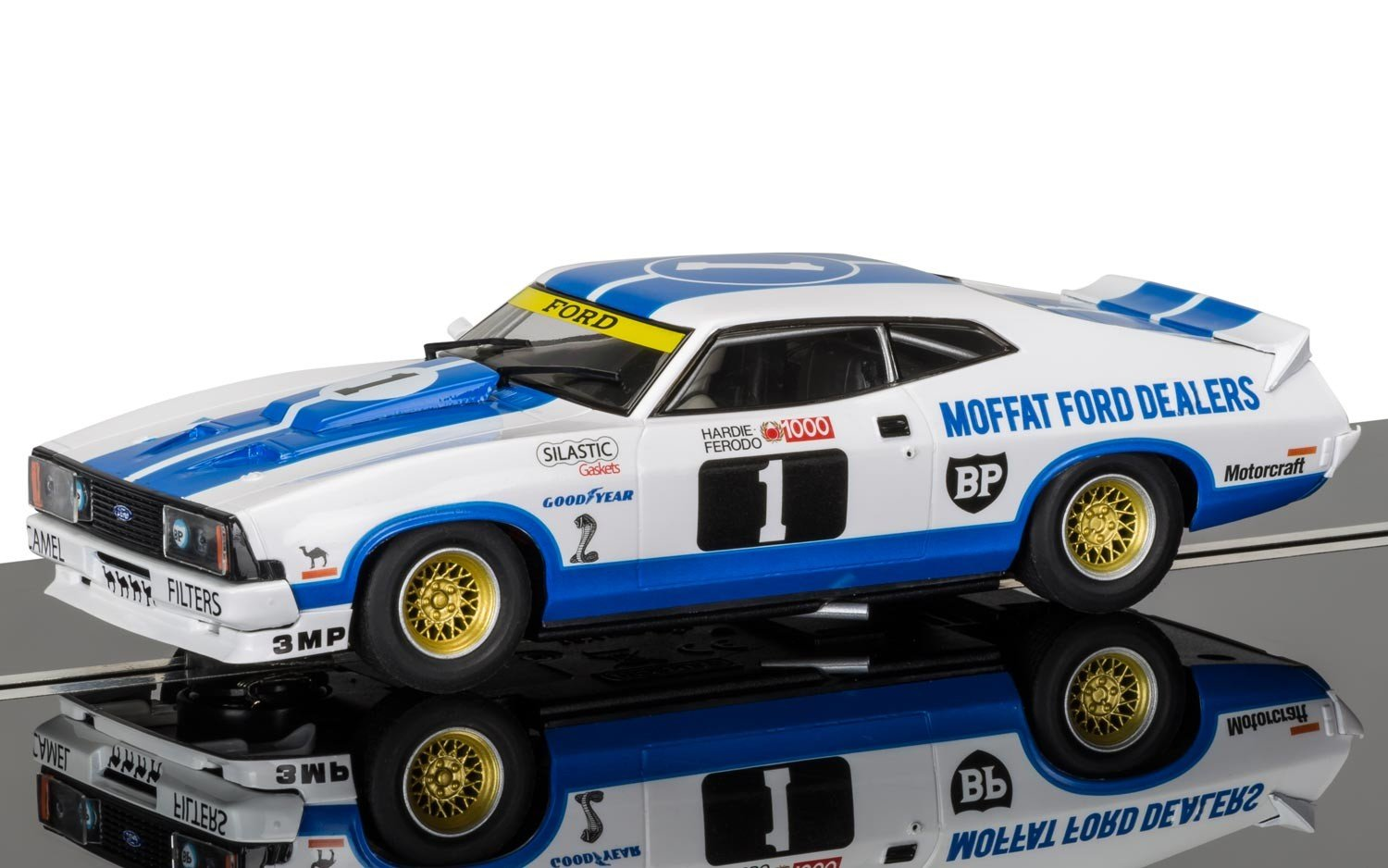 Scalextric C3741 Ford Xc Falcon Moffat Dealers 1978 Bathurst 1000 Slot Car 1: 32 Scale