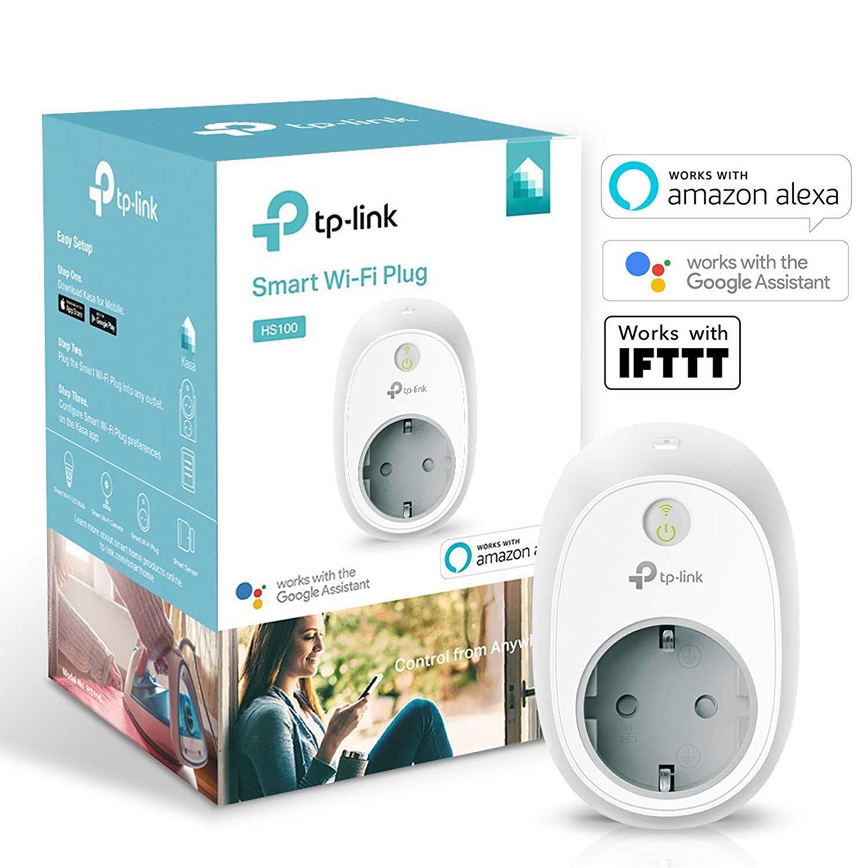 TP-Link HS100 - Enchufe inteligente para controlar sus dispositivos desde cualquier lugar, sin
