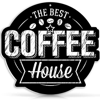 Coffee Signs Kitchen Decor Coffee House Wall Decor Sign 8 75 X 9 25 Rigid Thick Pvc For Home Coffee Station Coffee House Menu Printed Wood