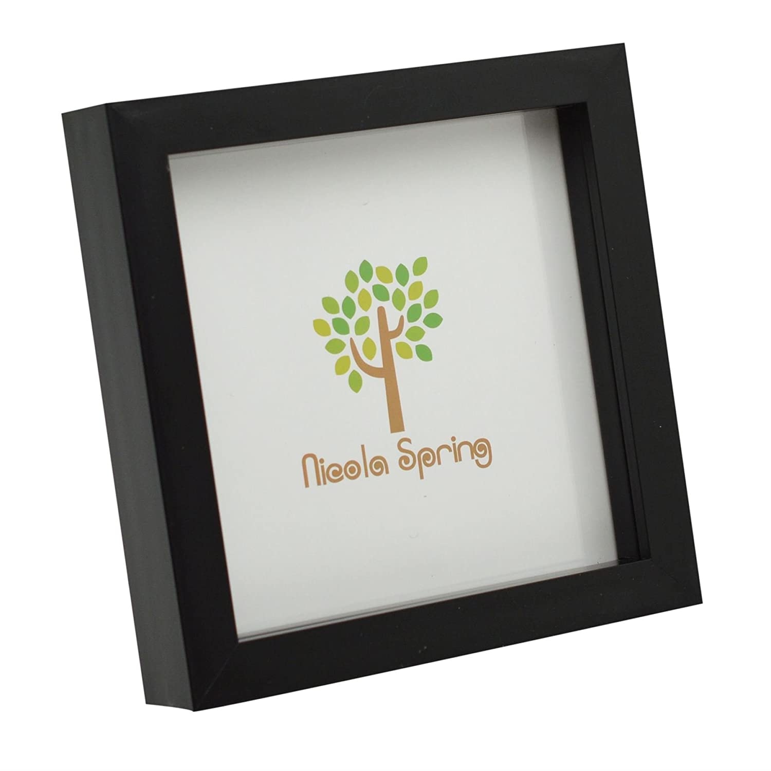 Black 6x6 Box Photo Frame - Standing & Hanging Nicola Spring