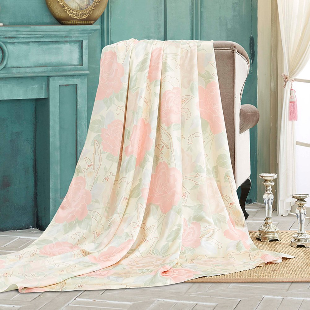 kele Silk fabric quilt cover, High-end luxurious home 100% mulberry silk quilt cover-A 70.870.8inch(180220cm)