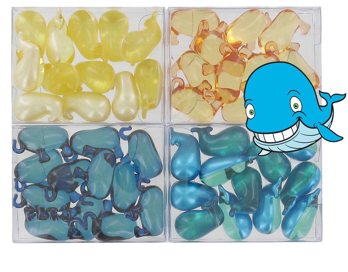 Lot de 4 boîtes de 12 perles d'huile de bain - ANIMAUX