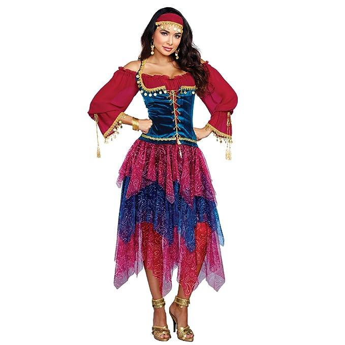 Amazon.com: Dreamgirl Disfraz de gitana, para mujer: Clothing