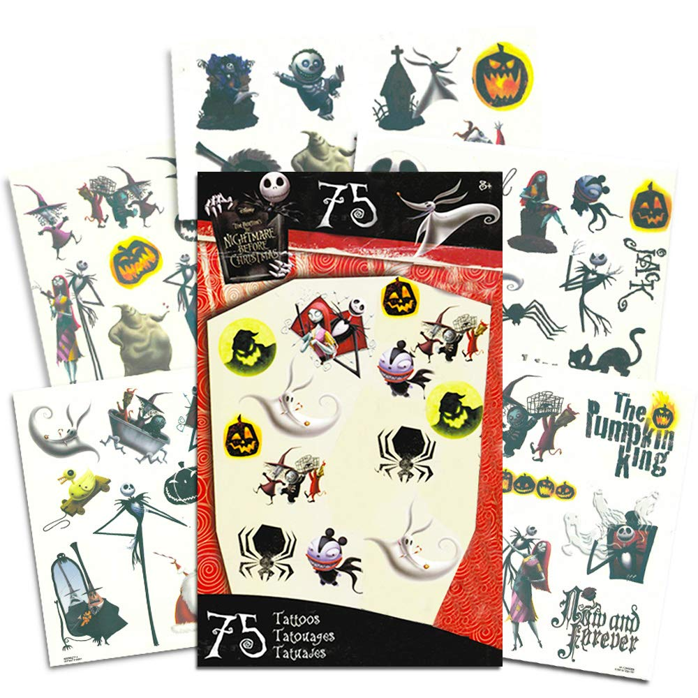Nightmare Before Christmas Tattoos 75 Temporary Tattoos ~ Jack Skellington Sally Oogie Boogie and More