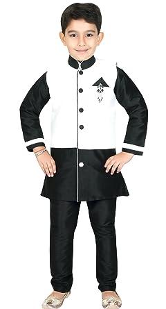 Sherwani Waist Coat Combo Indian Pakistani Boys Kids Suit Kurta Shalwar Kameez