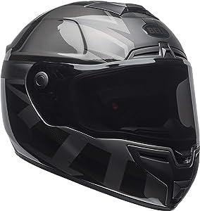 Bell SRT Street Motorcycle Helmet (Matte/Gloss Blackout, Large)