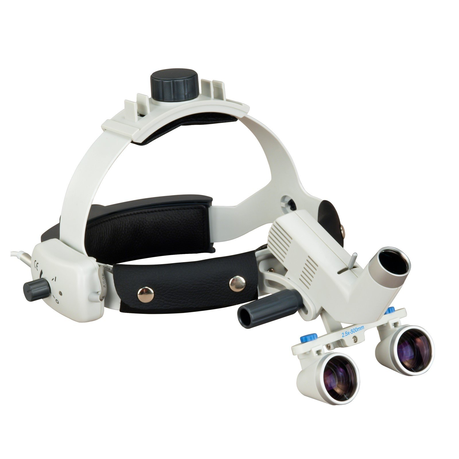 Headband Dental Surgical Loupes with LED Headlight, 2.5x , 500mm working distance
