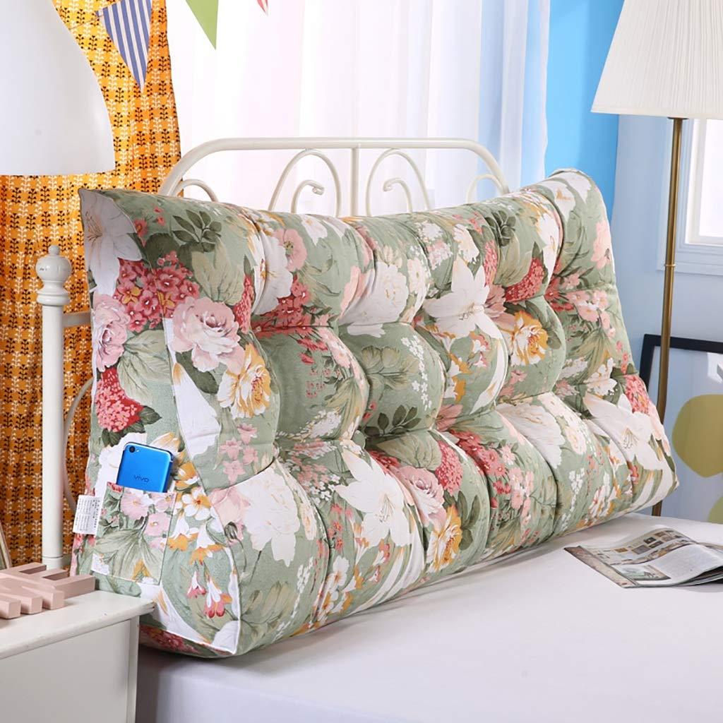 ベッド背もたれクッションベッドクッションベッドサイドピローコットン大きめの柔らかい枕の腰サポート、取り外し可能な10色無地7サイズ (色 : A9, サイズ さいず : 180 * 60 * 30CM) B07GXKF3TL A9 180*60*30CM