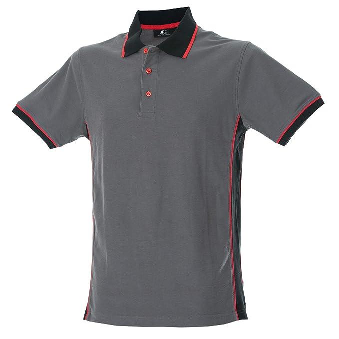 T-Shirts Camicia a Manica Corta Con Colletto Button-Down Uomo