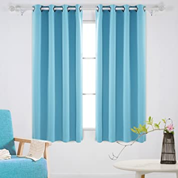 deconovo blackout drapes thermal inshualted room darkening shades grommet curtains for boys room 52w x 63l