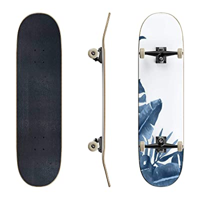 EFTOWEL Skateboards Watercolor Corner Arrangement with Exotic Tropical Plants Rainforest Classic Concave Skateboard Cool Stuff Teen Gifts Longboard Extreme Sports for Beginners and Professionals : Sports & Outdoors