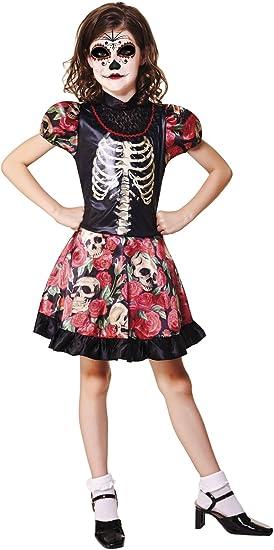 My Other Me Me-202256 Disfraz de Día de los Muertos para niña, 7-9 ...