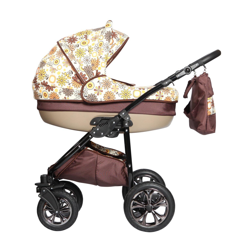 Sistema de viaje 3 en 1, Cochecito, Carrito Bebe Zippy Lux N7 marron - flores: Amazon.es: Bebé