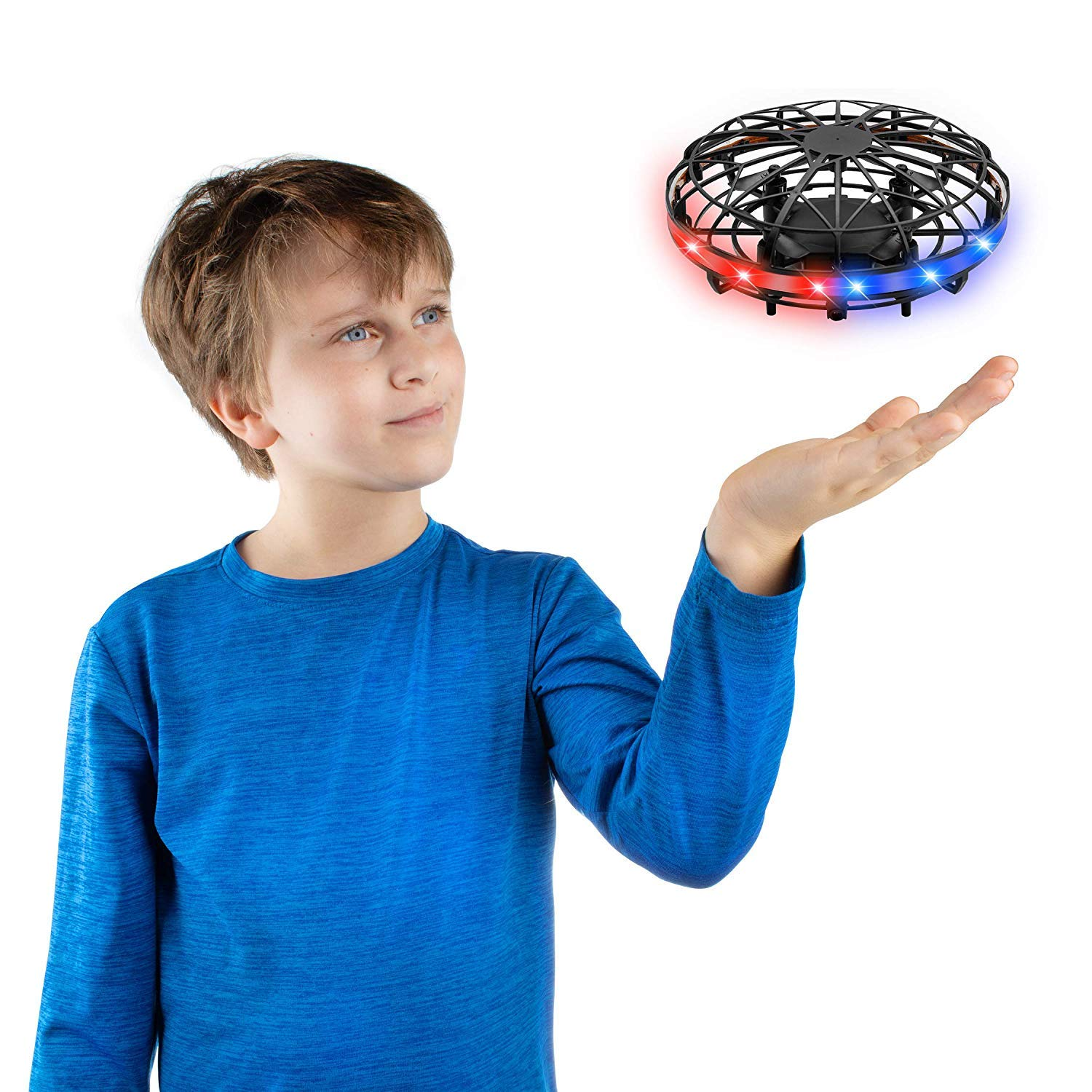 Force1 Scoot 2 LED Hand Drones for Kids - Kids Drone, Flying Ball Drone, Light Up Toys for Boys and Girls (Matte Black) by Force1