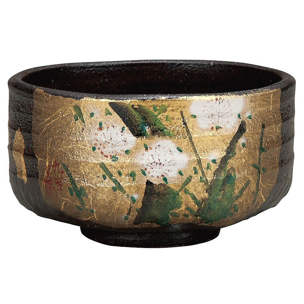 Japanese Matcha Bowl Gold Leaf Kutani Yaki(ware) by Kutani (Image #1)