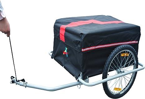 HOMCOM Remolque de Transporte Carga Remolque de Bicicleta para ...