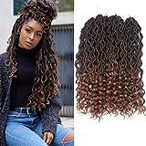Dorsanee Goddess Faux Locs Crochet Hair Braids Wavy Synthetic Braiding Hair Deep Wave Curly Ends Loc Hair Extension New…