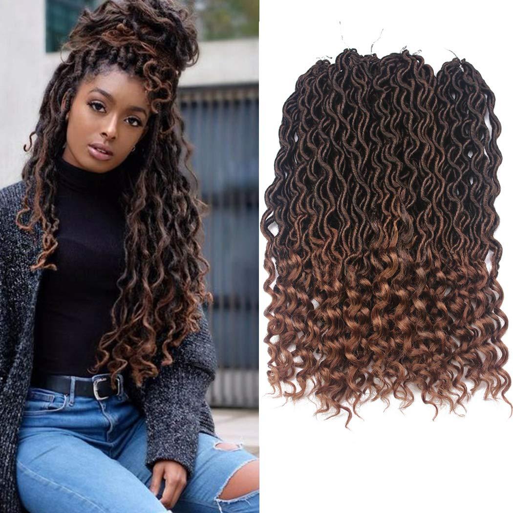 Amazon Com Dorsanee Goddess Faux Locs Crochet Hair Braids Wavy Synthetic Braiding Hair Deep Wave Curly Ends Loc Hair Extension New Style Fashion And Bouncy 6packs T1b 30 Beauty
