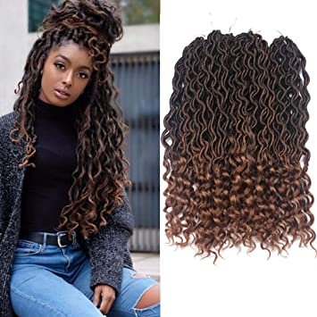 Dorsanee Goddess Faux Locs Crochet Hair Braids Wavy Synthetic Braiding Hair  Deep Wave Curly Ends Loc Hair Extension New Style Fashion and