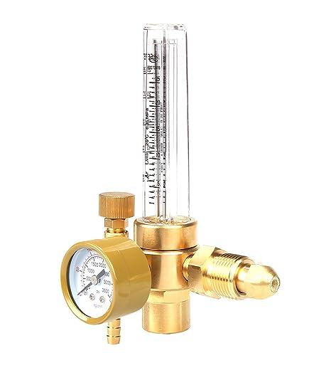 0 – 250 psi Argon/CO2 Medidor de flujo regulador de cobre para soldadura MIG