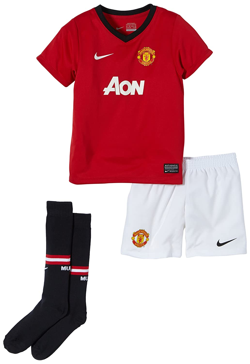 newest 95f6f a349e Amazon.com: Nike Manchester United Little Boys Home Kit ...