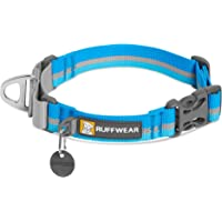 "RUFFWEAR, Web Reaction Dog Collar, Martingale Collar for On-Leash Walking, Blue Dusk, 11""-14"""