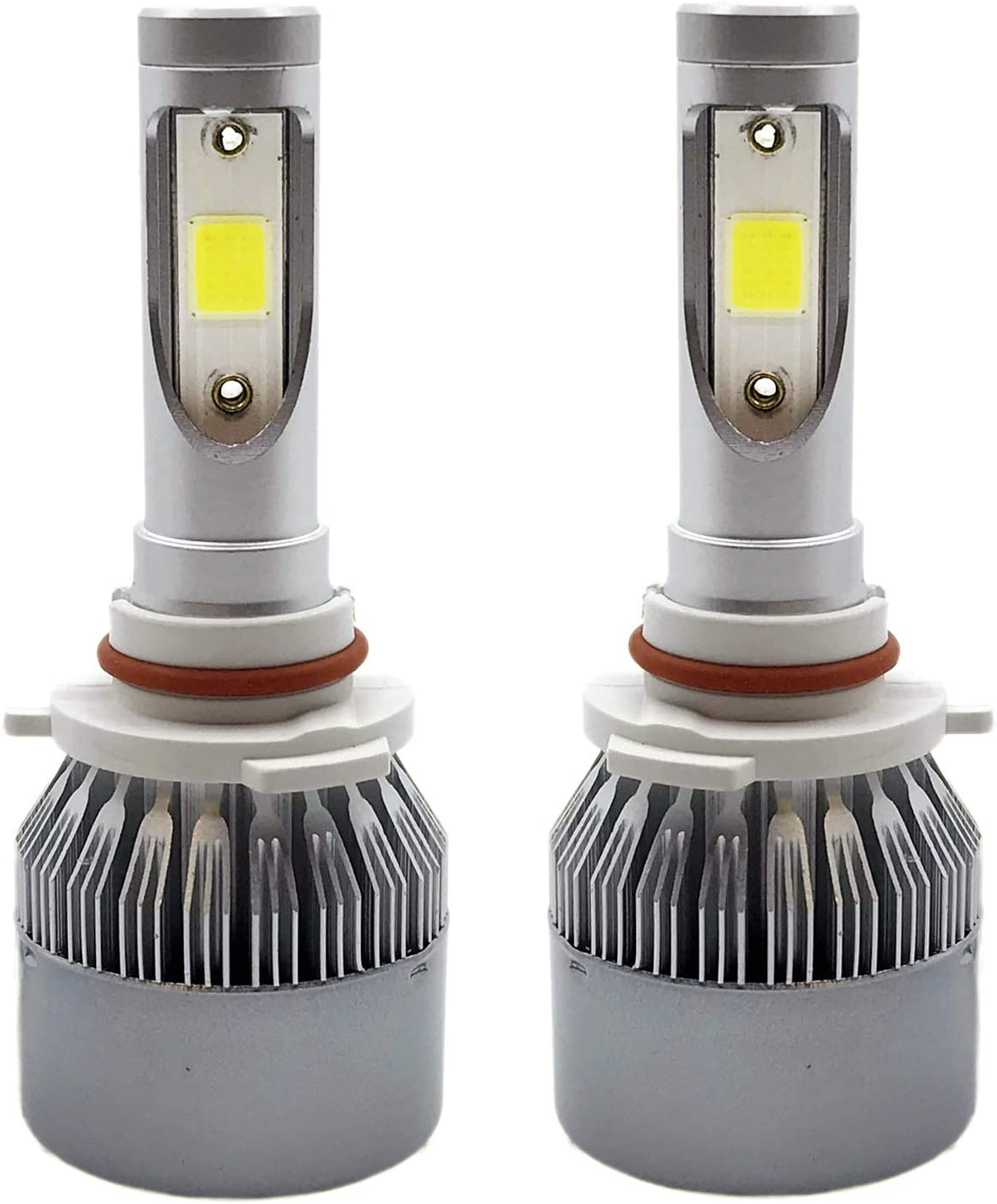 SOCAL-LED 2x C7 9005 (9145 H10) Headlight Bulbs LED Conversion Kit 72W 7600LM COB Chipsets, ALL-In-One, 6000K Crystal White
