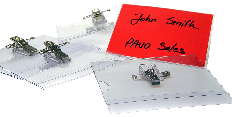 Pavo - Cartellini per nomi, per visitatori, 50 pz, 40 x 75 mm Pavo Sales B.V 8009176
