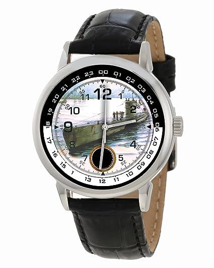 Segunda Guerra Mundial. Marina Alemana, Kriegsmarine. Reloj Coleccionable del Arte del Submarino. Paquete del Lobo de Uboat: Amazon.es: Relojes