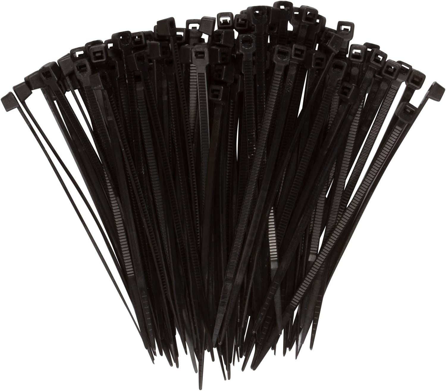 UR Recognized 18-Pound Tensile Strength Morris Products Nylon Cable Zip Ties Cable Organization Applications Heavy Duty 4 Inch Length Pack of 1000 UL Approved