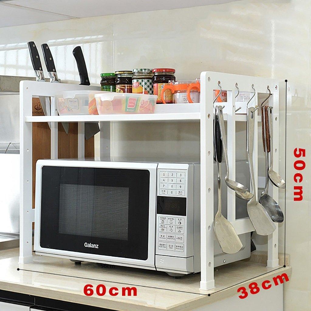 LXLAキッチン用棚保管鍋ラック電子レンジ用シェルフオーブン用フレームフレーム1階建て2階建て多層物木製白(利用可能な50/55/60 * 50 * 38Cm) ( 色 : White 1 layer , サイズ さいず : 60 cm 60 cm ) B07BGZ3L6KWhite 1 layer 60 cm 60 cm