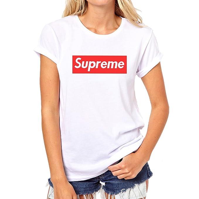 Supreme Logo Red Box XL Womens T-Shirt  Amazon.ca  Clothing ... 3dd39465a