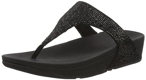 Fitflop Electra Micro Toe-Post - Sandali a Punta Aperta, Donna, Nero (