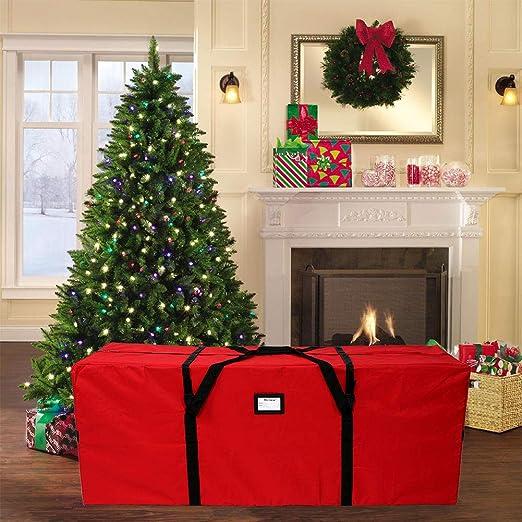 Custodia per albero di Natale Materiale impermeabile durevole Contenitore per le vacanze di Natale con manici e cerniera elegante per riporre fino a 9 piedi Albero di Natale artificiale smontato