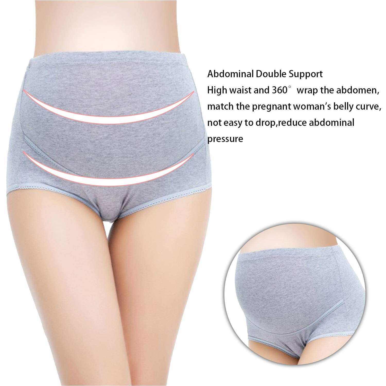 7fabad0233cc Maternity Underwear High Waist Cotton Pregnant Panties Mother Elastic  Adjustable Lingerie Briefs Underpants 4 PCS at Amazon Women's Clothing  store: