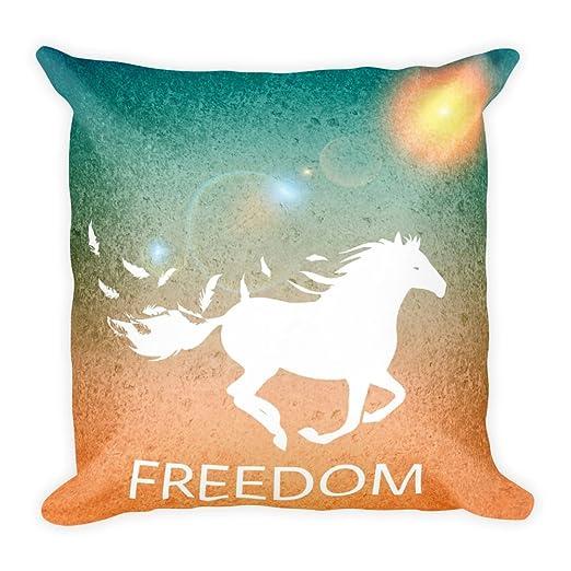 Freedom caballo Libertad Cojín 45 x 45 cm, diseño de animales ...