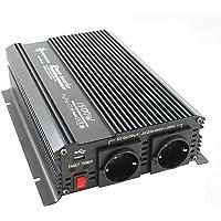 Transformador de corriente 12 V 1500 3000 W 230 V – Inversor para conexión móvil de electrodomésticos.