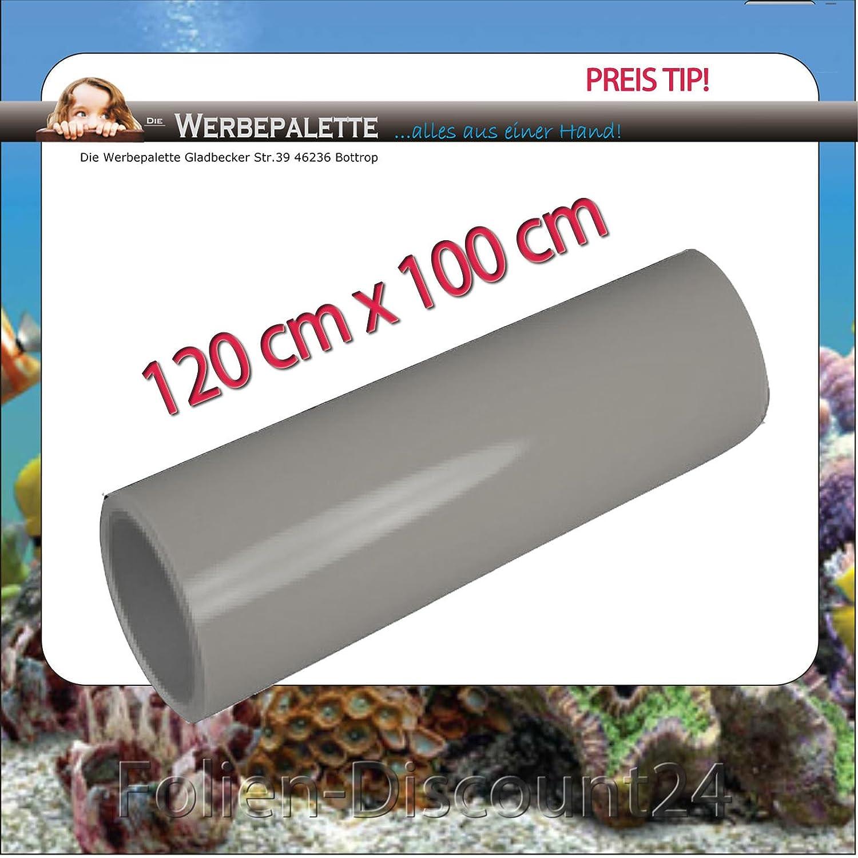 (EUR 5,75 / Quadratmeter) Aquarium Terrarium Rückwandfolie Folie GRAU 120cm x 100cm TOP ! Preistip Mactac