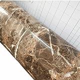 Emoyi Dark Brown Granite Look Marble Effect Wall Sticker Contact Paper Vinyl Peel-stick Counter Top 24inchx79inch