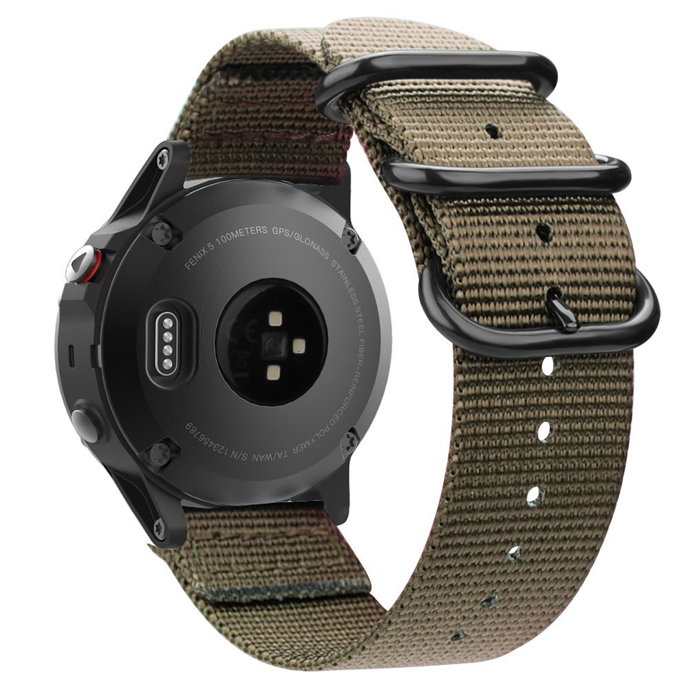 Fintie for Garmin Fenix 5 Band, Soft Woven Nylon Sport Strap Replacement Wristband with Metal Buckle for Garmin Fenix 5/Forerunner 935 Smart Watch, ...