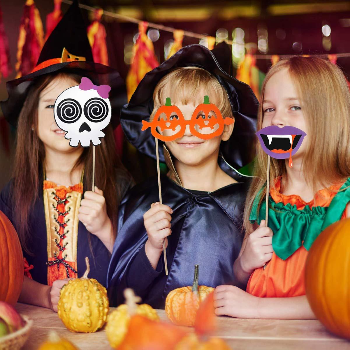 Dancepandas Halloween Foto Prop 34PCS Cabina De Fotos Photo Booth Props Halloween Creativo Photocall Para Fiestas De Disfraces Boda Cumplea/ños Navidad Halloween A/ño Nuevo y Otro Diferentes Ocasiones