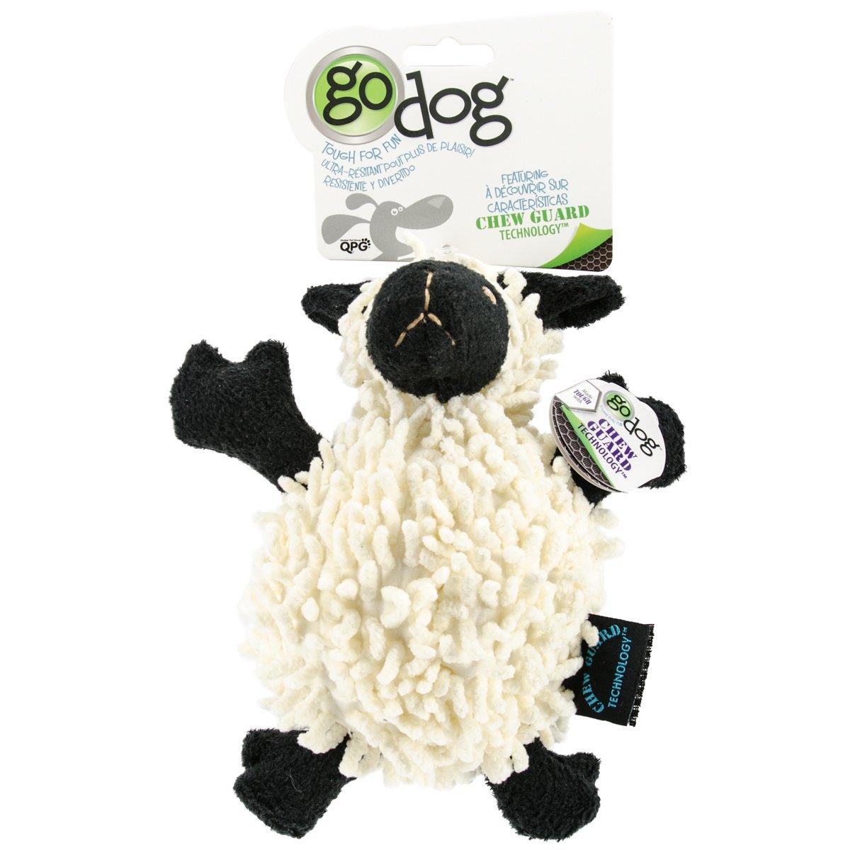 goDog Fuzzy Wuzzy with Chew Guard Small, Lamb