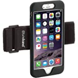 TuneBand for iPhone 8 PLUS, Premium Sports Armband with Two Straps and Two Screen Protectors (BLACK)