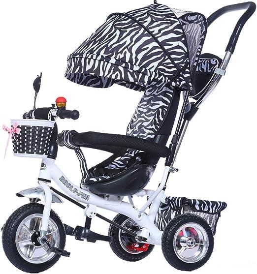 SXZHSM - Carro de Bicicleta Plegable con 4 carritos para niños de 1 a 3 años, para