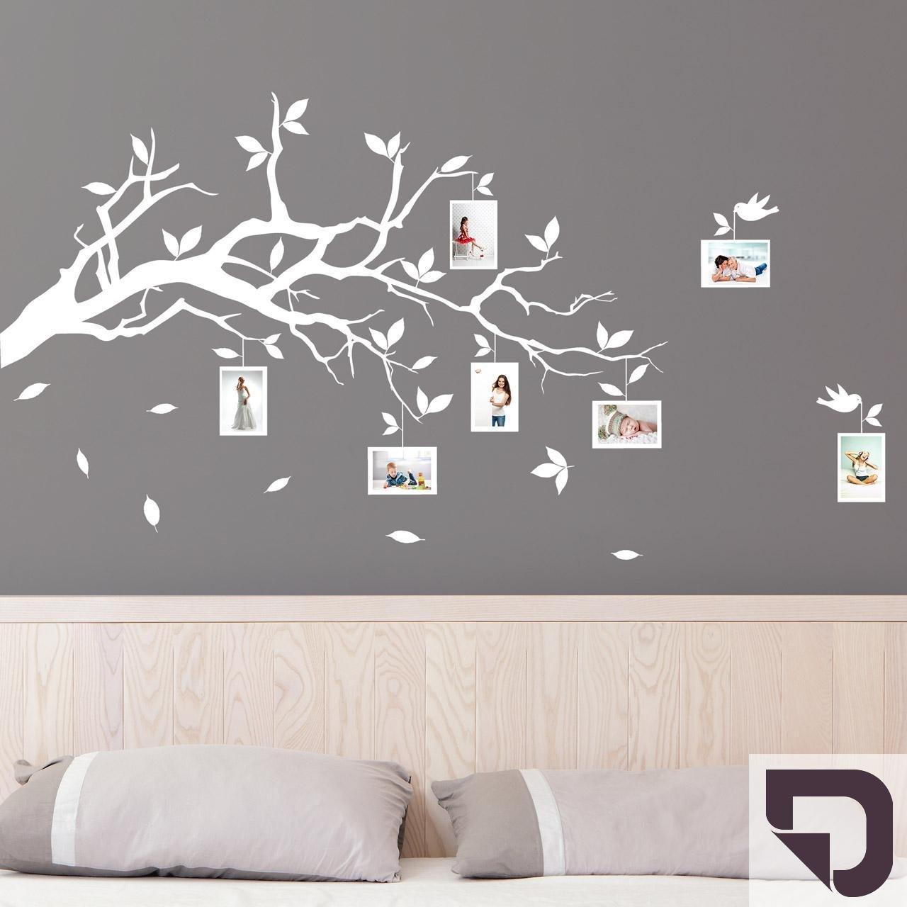 DESIGNSCAPE® Wandtattoo Ast mit Fotorahmen 120 x x x 72 cm (Breite x Höhe) schwarz DW804006-M-F4 B01H489A6K Wandtattoos & Wandbilder c812b6