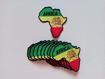 RASTA AFRICA MAP//LION Patch 3.25x3