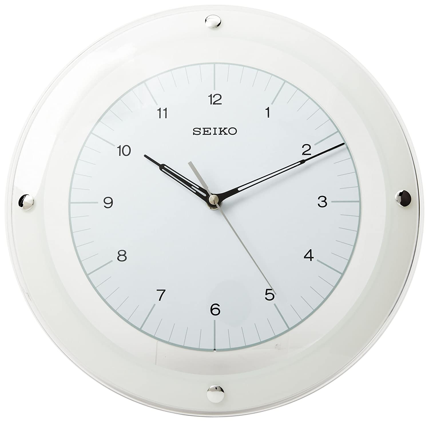 Amazon seiko wall quiet sweep second hand clock curved glass amazon seiko wall quiet sweep second hand clock curved glass crystal white dial watches amipublicfo Image collections